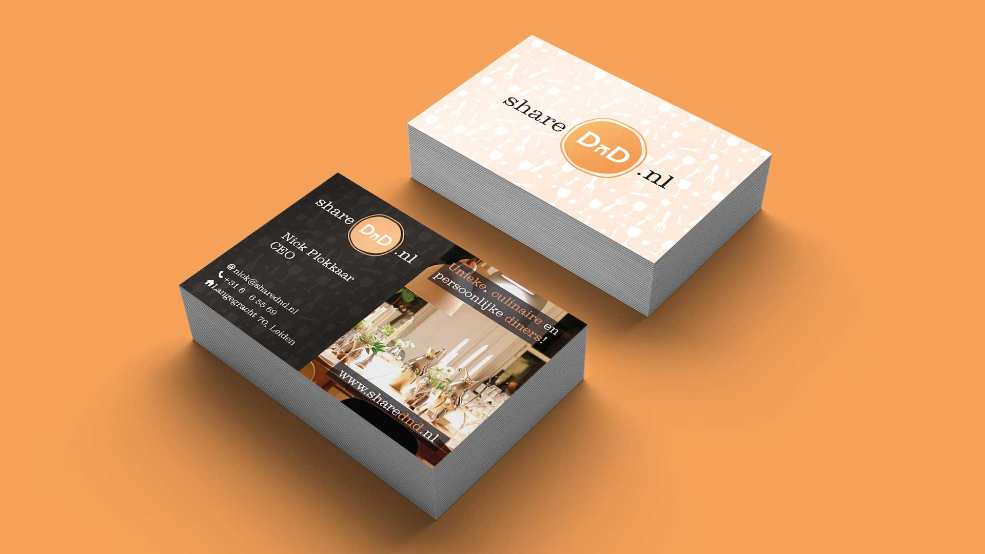 Pixelwish, Design, ShareDnD, Visitekaart, Business, Card, Mockup