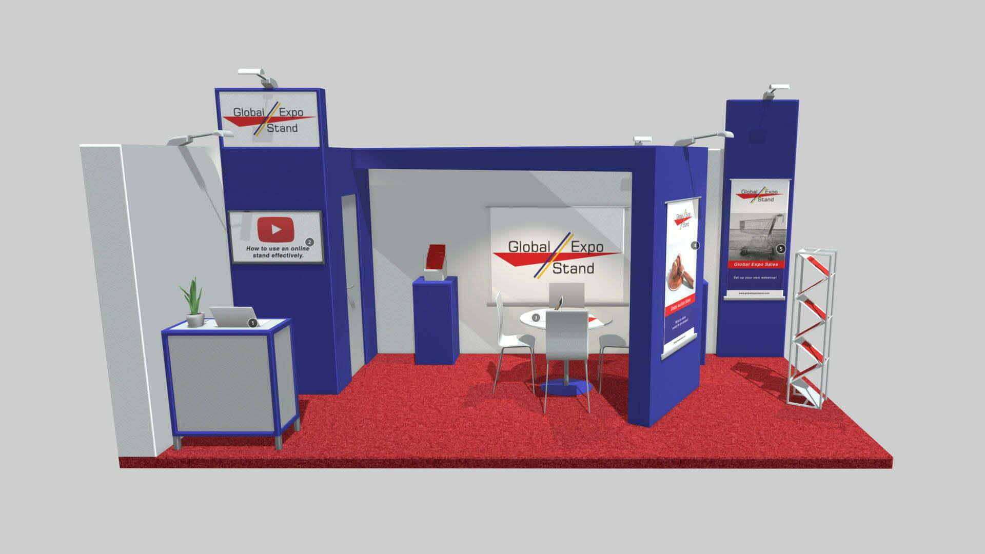 Pixelwish, Global Expo stand, 3D visualisatie, Sketchfab, Interactief, laten maken, 360, beurstand