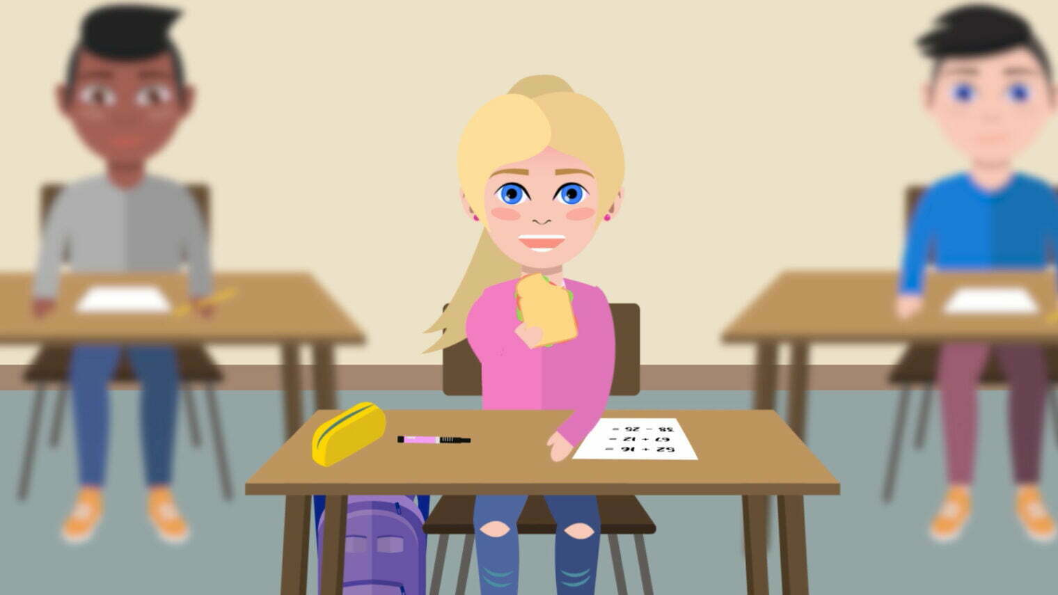 Pixelwish, Design, Diabetes, Diabetestype1, Type1, Lipoatrofie, Lipohypertrofie, Lilly, Eli, Een, Hypo, Op, School, Wat, Nu, Uitleganimatie, Animatie, Video, Uitleg, Een hypo op school wat nu?