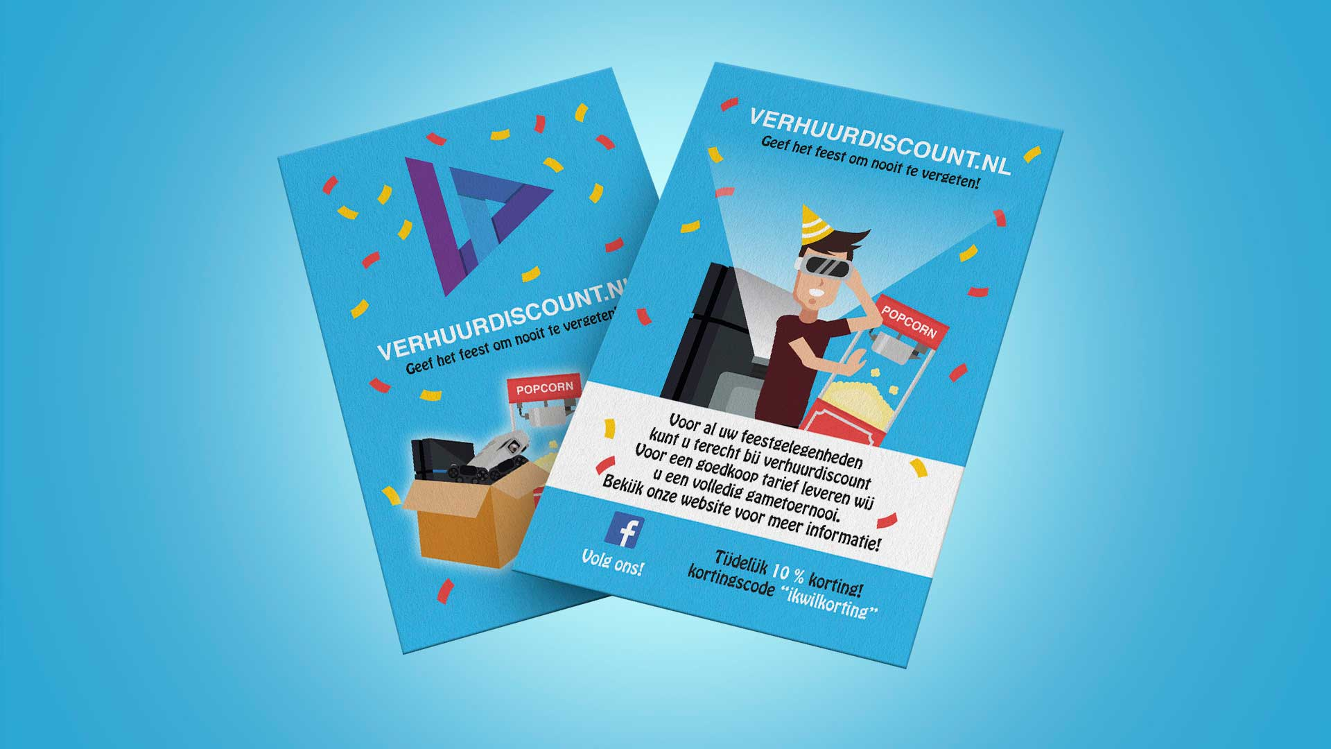 Pixelwish, Design, Verhuurdiscount, Flyer, Mockup