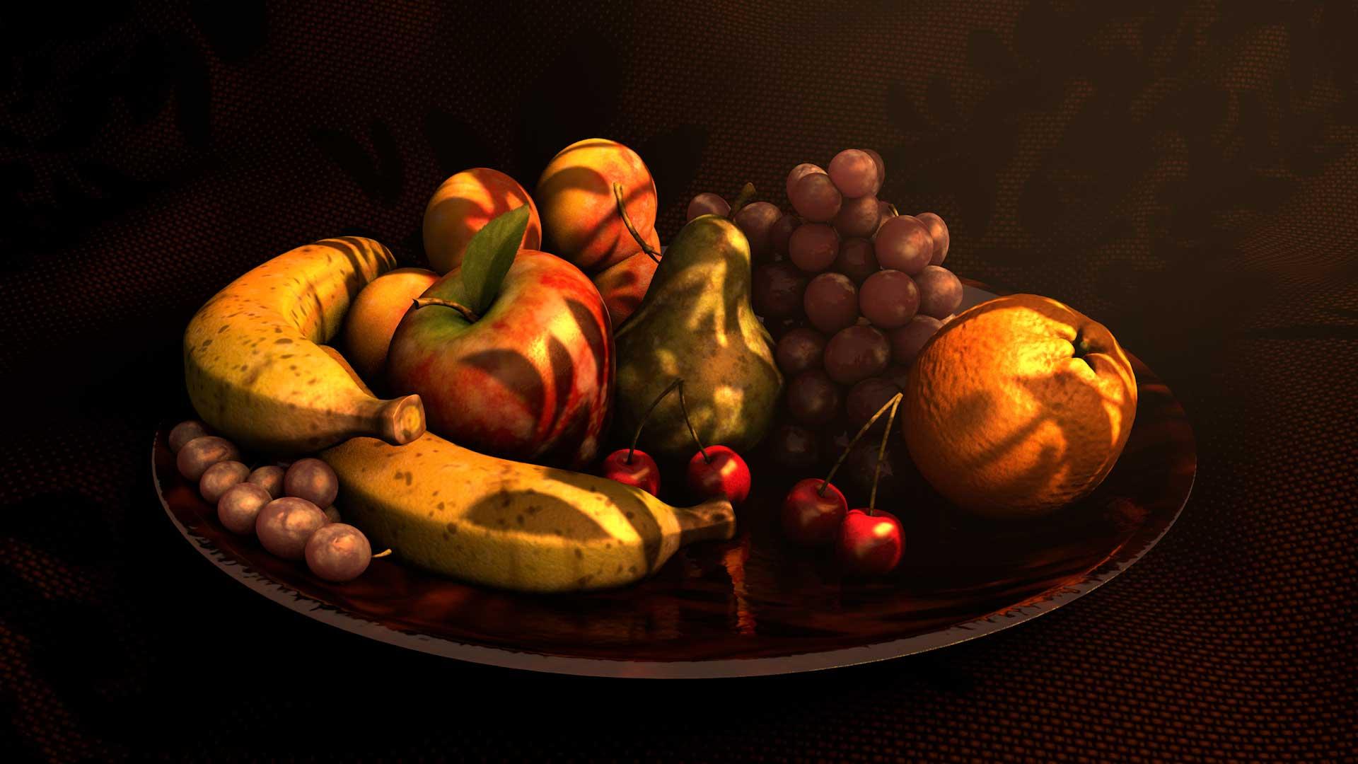 Pixelwish, 3D Design, Still Life, Fruitscale