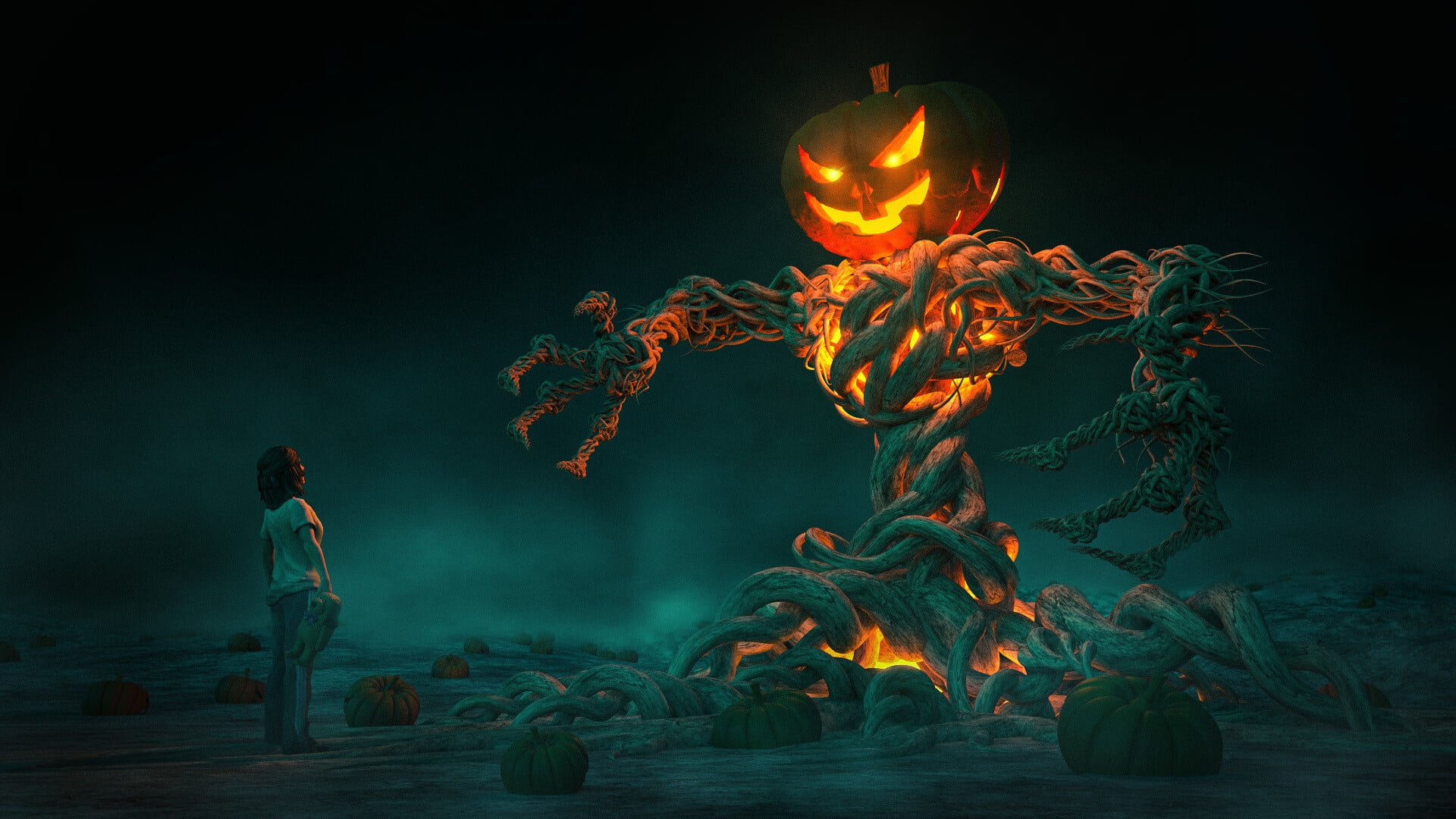 Pixelwish, 3D Design, Roots of Evil, Scary, Halloween, Artwork